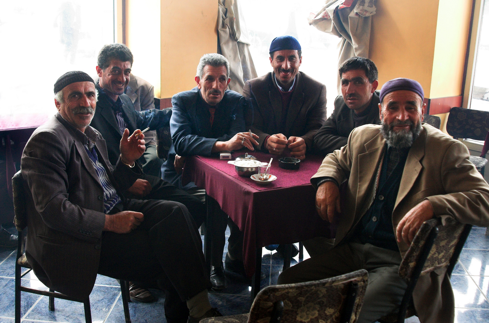 Men in teashop Erzurum
