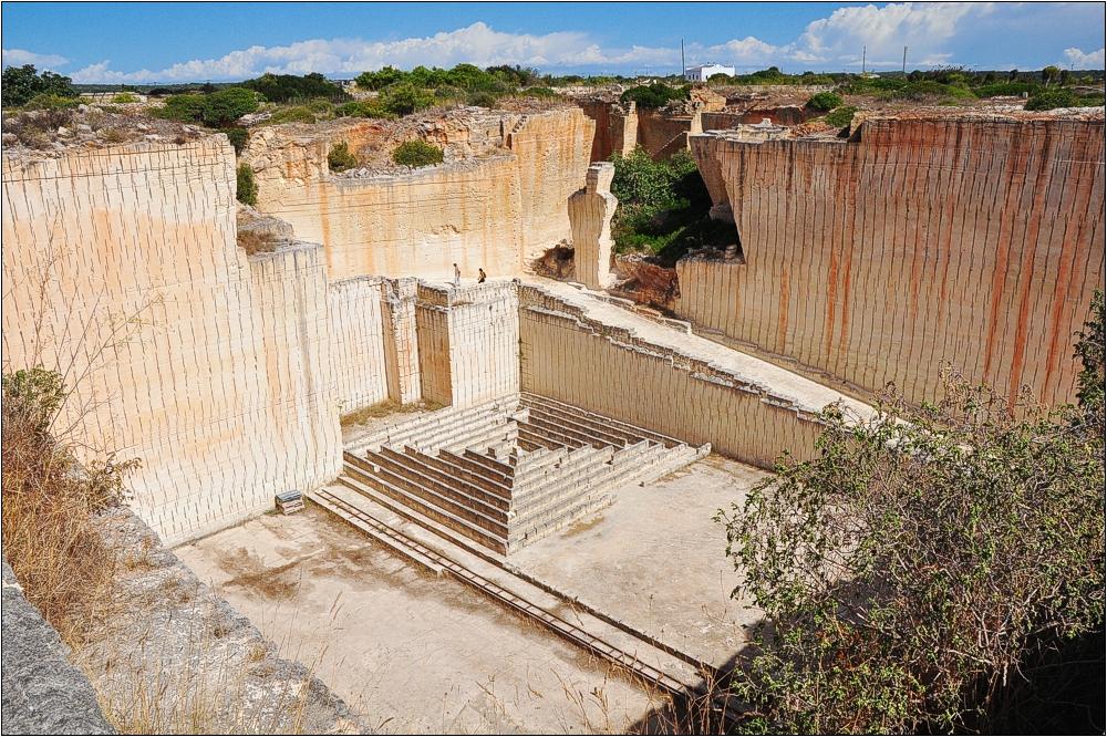 Menorca, Steinbruch S'Hostal bei Ciutadella
