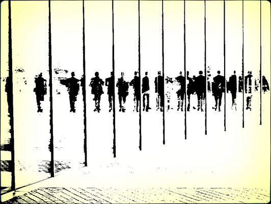 Mensch Linie Menschen Linie Mensch ...