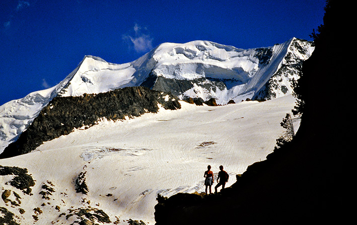 Mensch und Berg