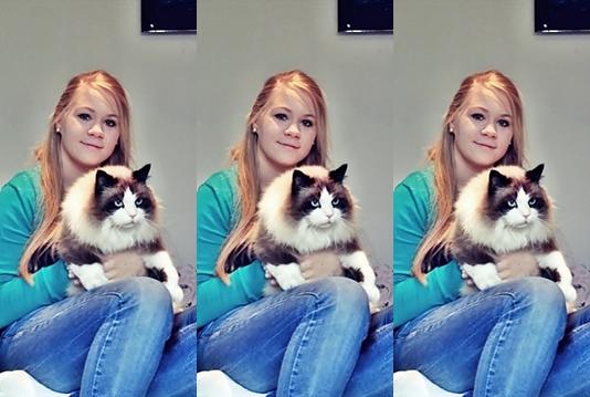 Mensch und Katze