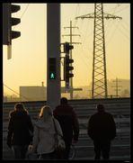Menschen auf dem Weg zur Arbeit