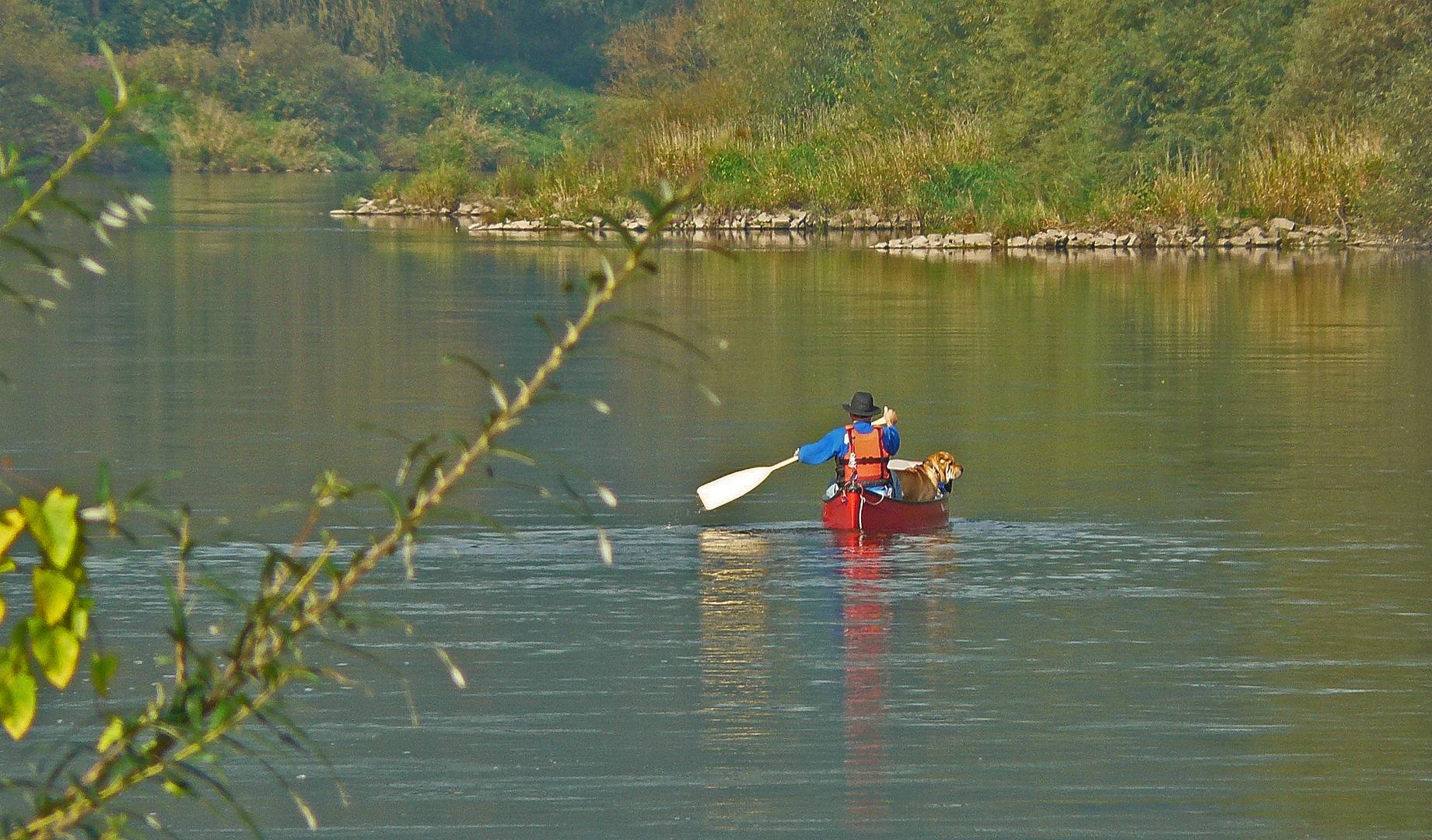 Menschen auf der Weser