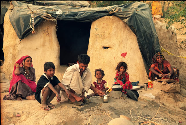 Menschen aus Indien - Familie