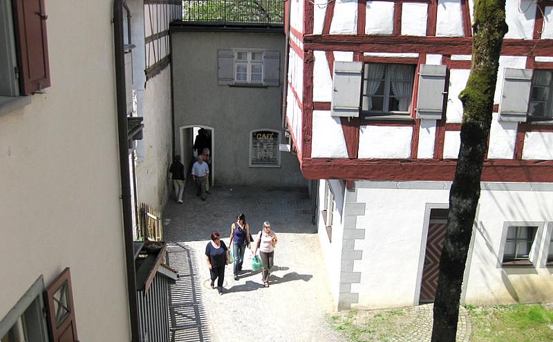 Menschen im Museumshof Wangen im Allgäu