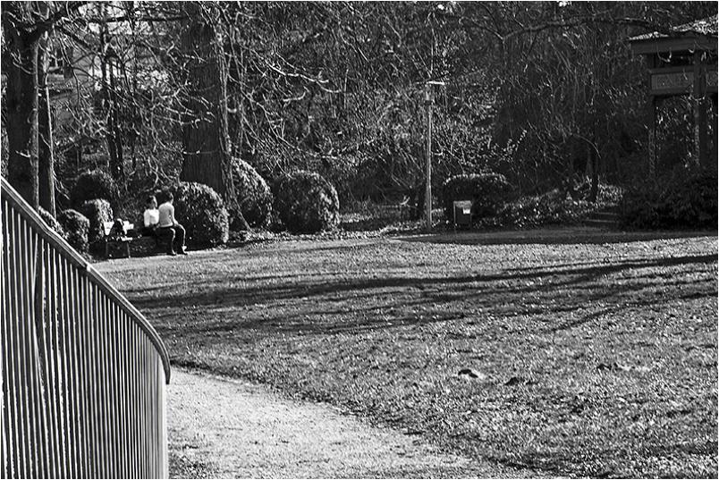 Menschen im Park - Nähe