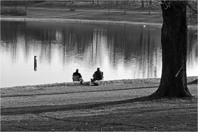 Menschen im Park - Ruhe