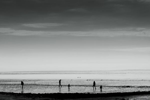 Menschen im Watt, Nordsee