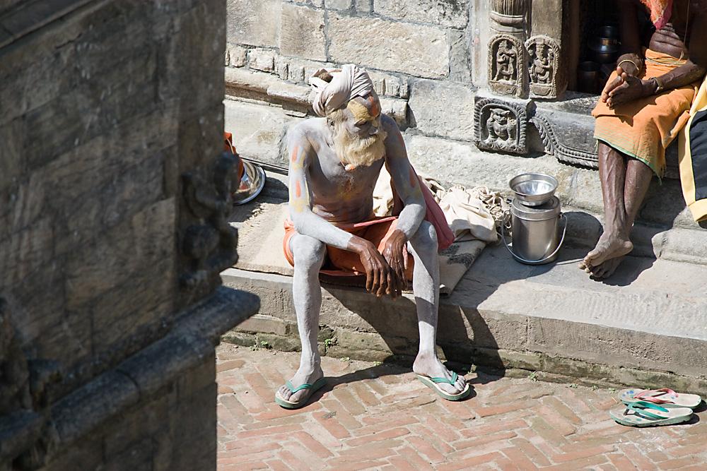 Menschen in Pashupatinath