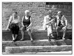Menschen in San Gimignano