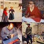 .. Menschen in Tibet ..