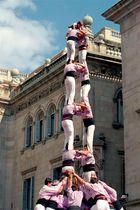 Menschen-Pyramiden in Barcelona