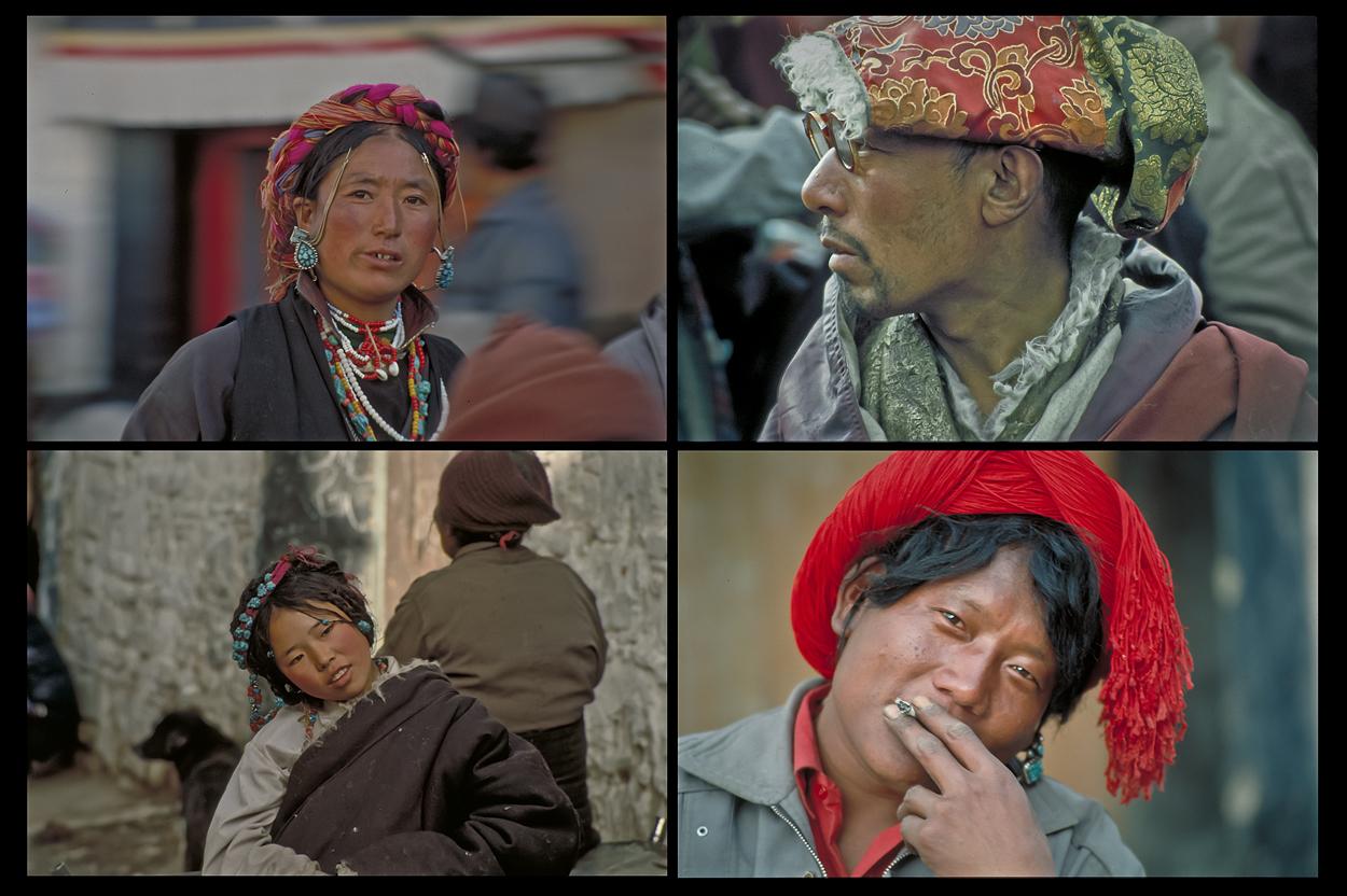 Menschen Tibets