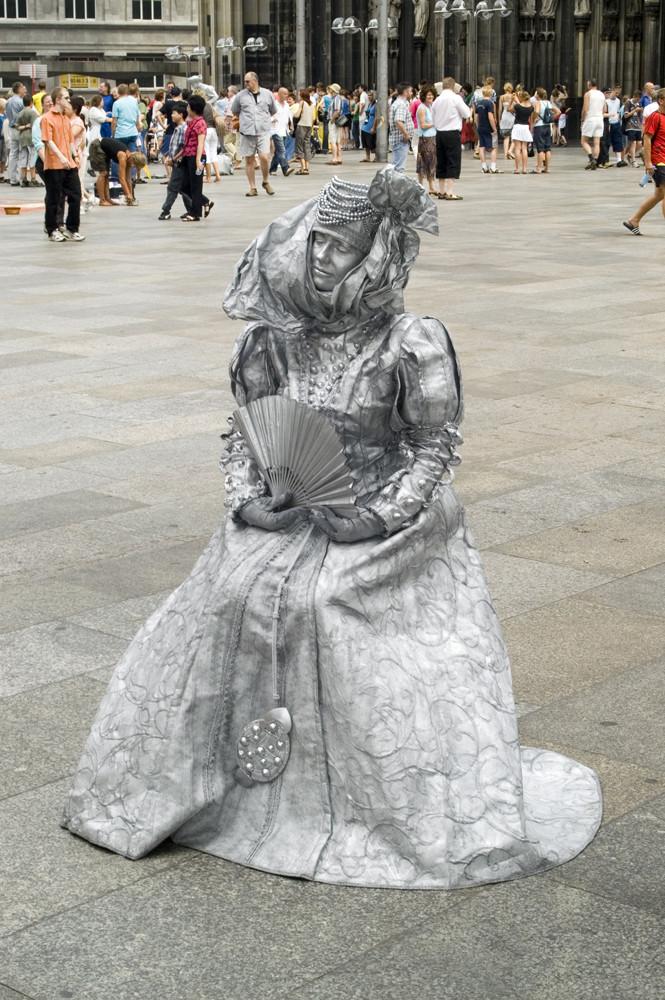 Menschliche Statue - Köln 2006