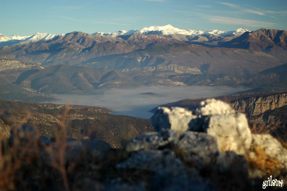 Mer de nuage sur Gréolieres les neiges.