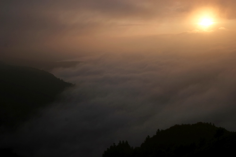 Mer de nuage sur l'Alsace depuis le Hohneck