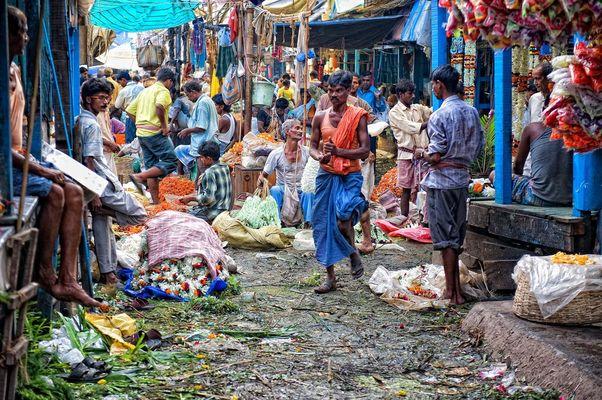 Mercado de las flores a color