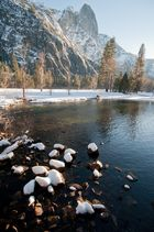 Merced river in Yosemite; Winter time