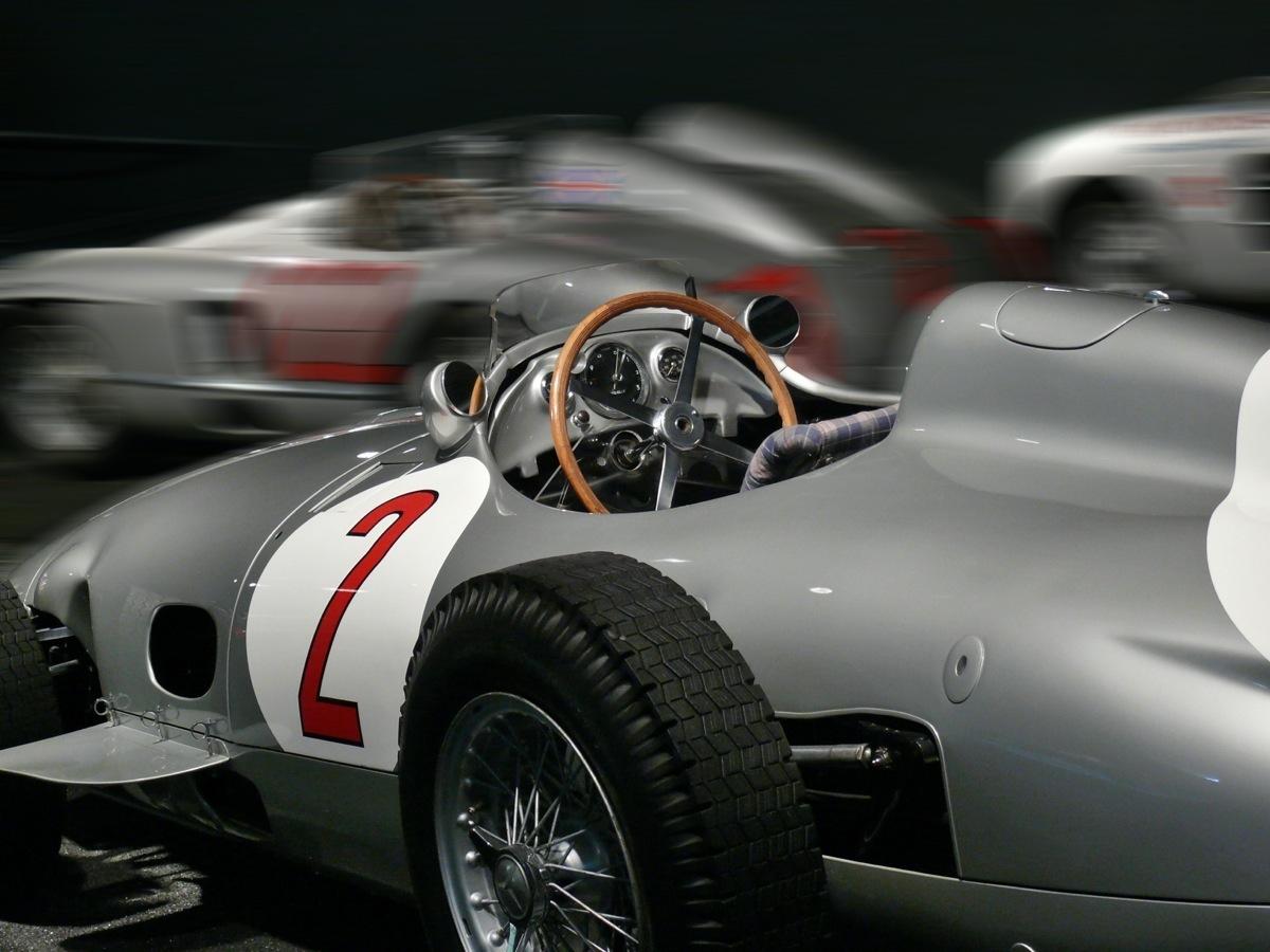 Mercedes Rennwagen anno tobak