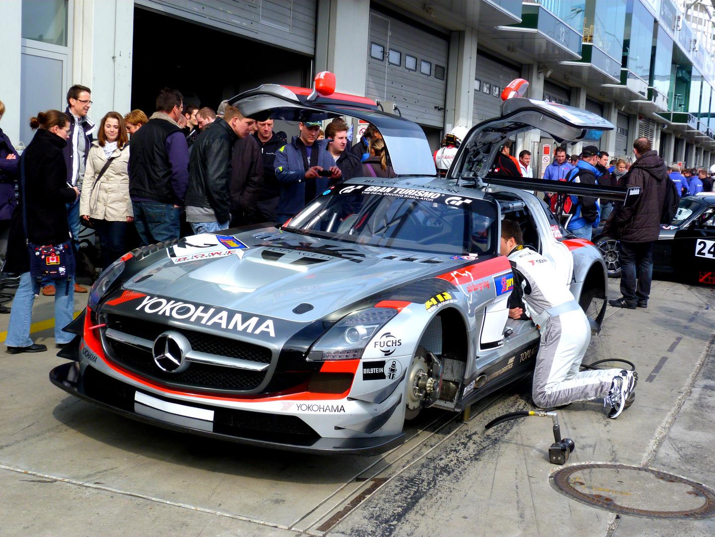 Mercedes SLS - VLN Einstellfahrten
