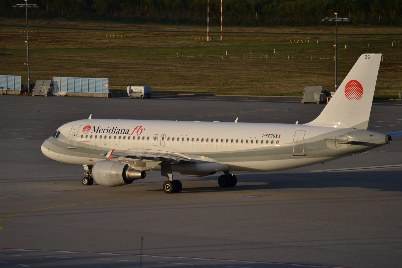 Meridiana Fly after Landing at CGN