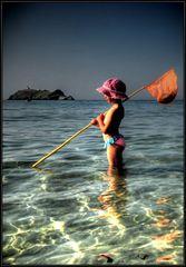meriggiare sulla spiaggia di Barcaggio