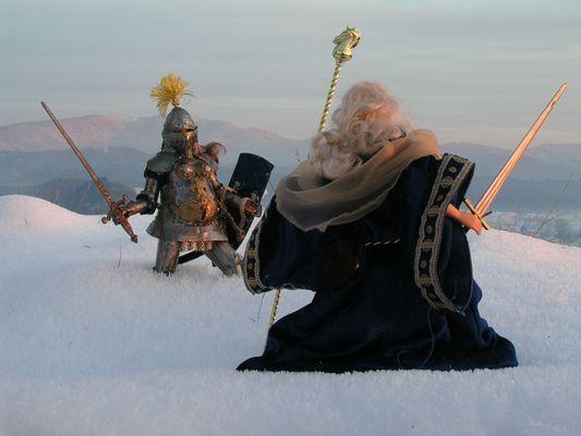 Merlins Kampf mit einer Amazone (Original)