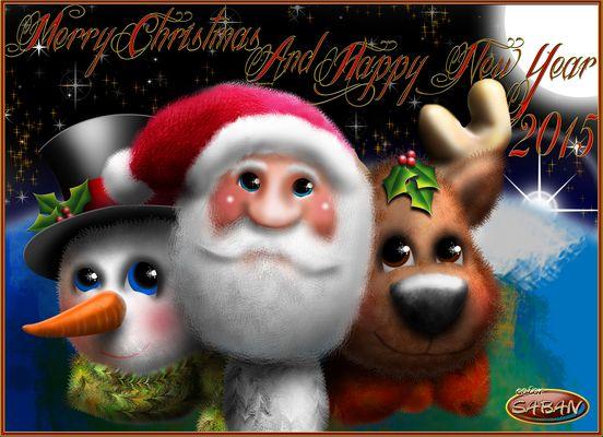 Merry Christmas and Happy New Year 2015 - Feliz Navidad y Prospero Año Nuevo 2015