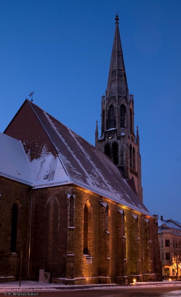 Merseburger Stadtkirche St. Maximi bei Frostigen -18 C°