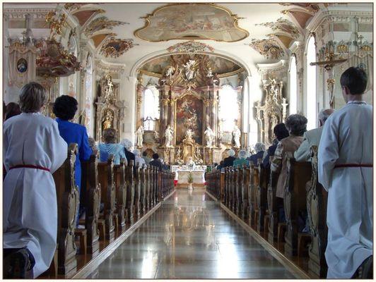 Messe zu Christi Himmelfahrt in Wiggensbach (Allgäu)