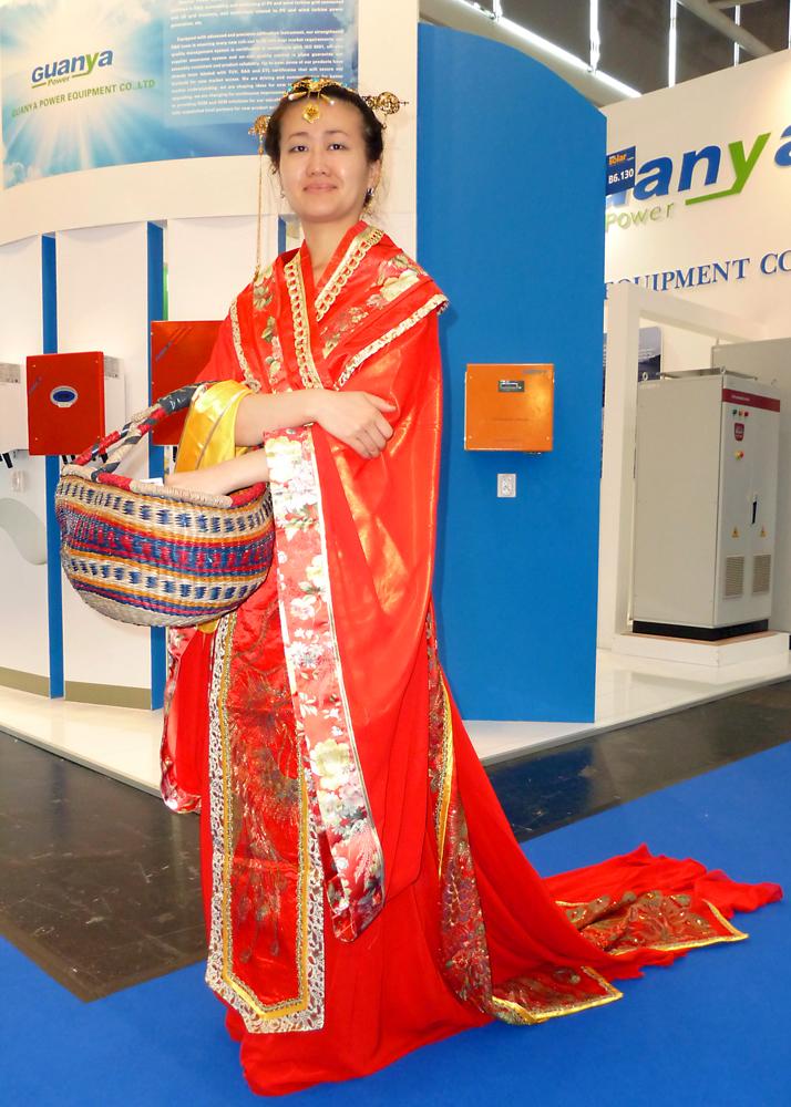 Messegirl auf Chinesisch