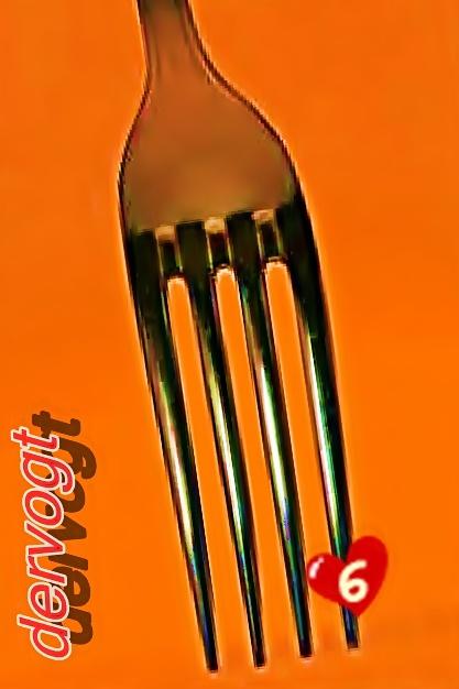 Messer? Nö - geschnitten - Aufgegabeltes Herz Nr.sechs