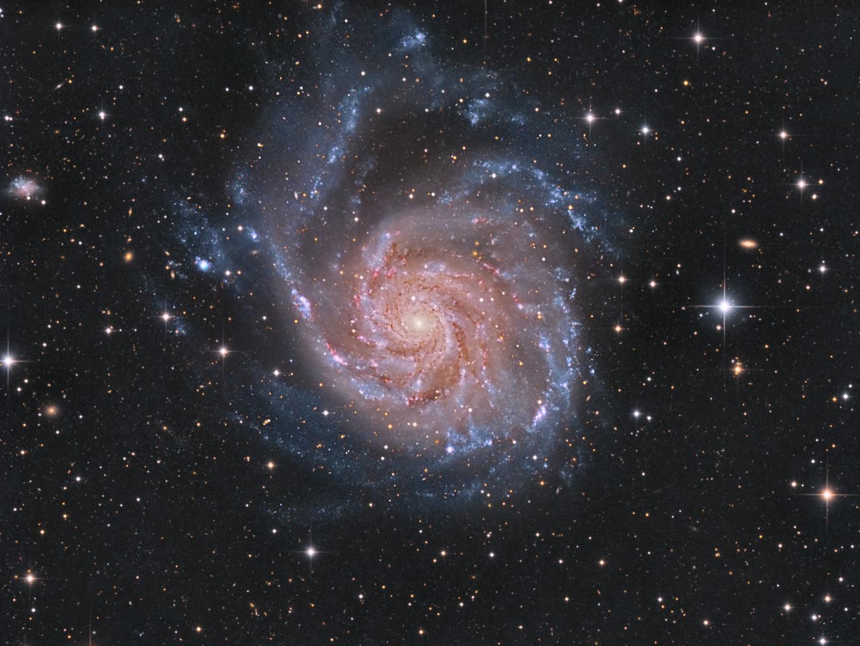 Messier 101 - die Feuerradgalaxie