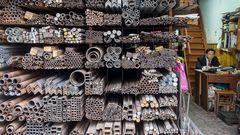 Metallwarenhändler in Shanghai