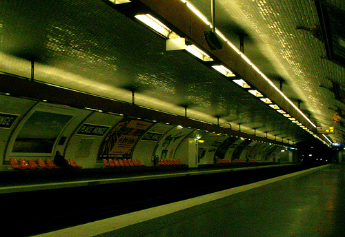 Métro place Monge, 7h07