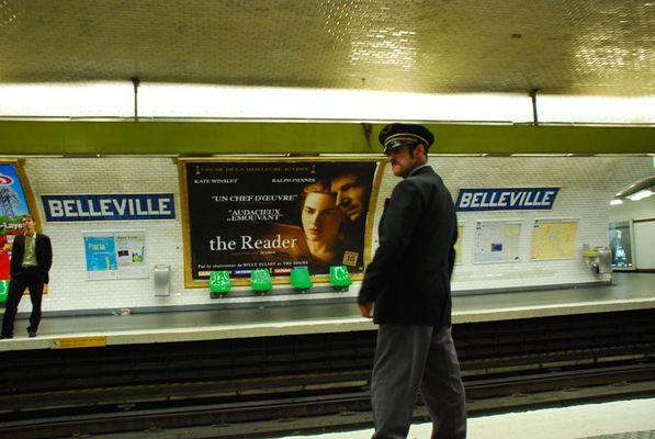 Metrostation Belleville Paris