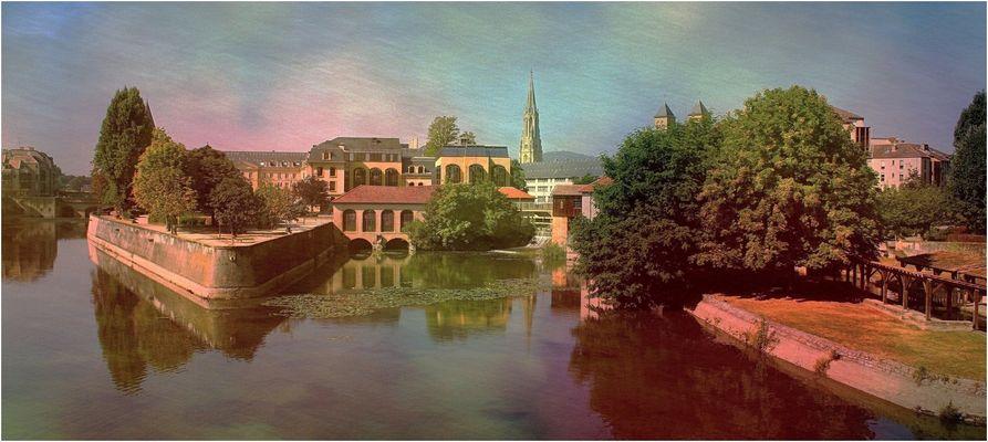Metz vue du pont St-Georges