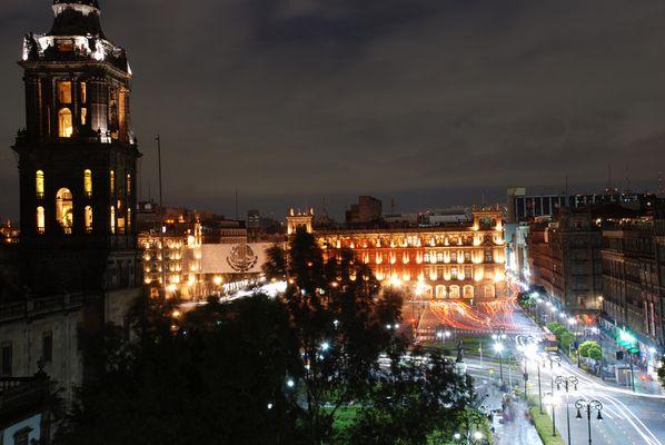 Mexico City bei Nacht
