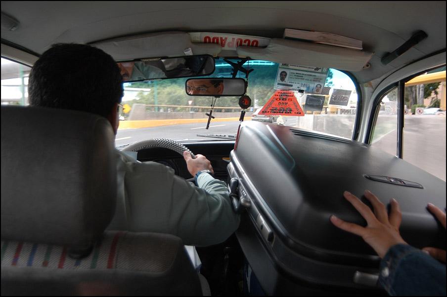 Mexikanische Taxifahrt