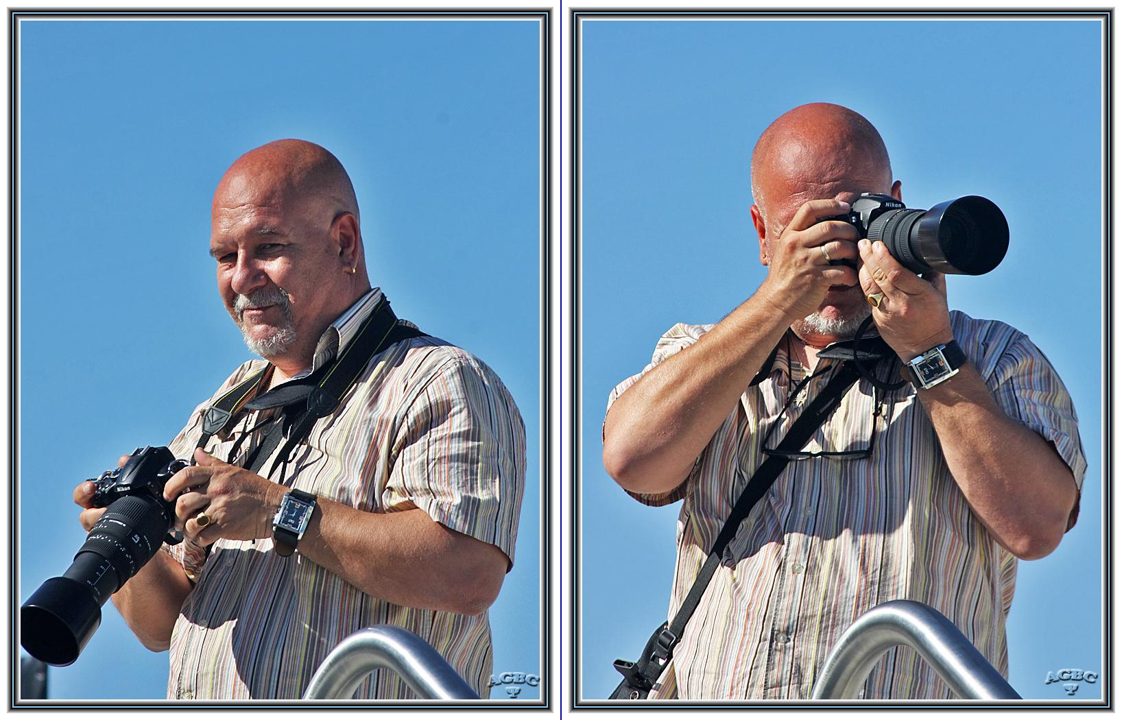 """Mi amigo Floren de """"caza"""" fotografica."""
