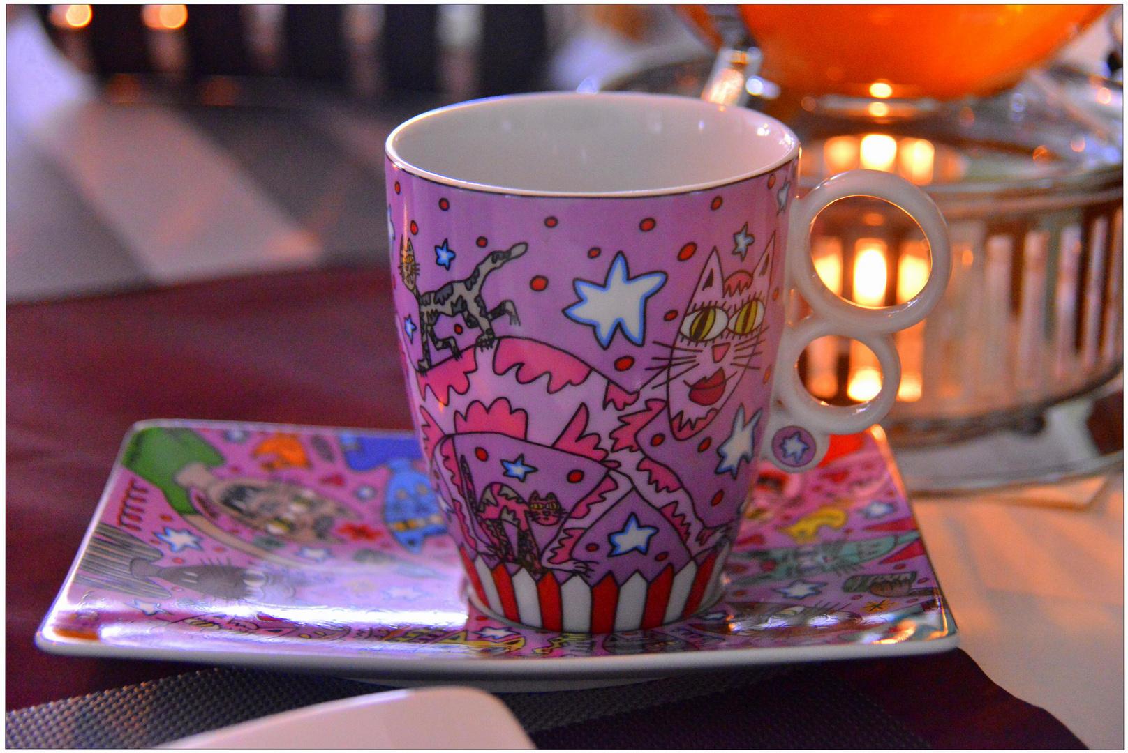 mi nueva taza de café (meine neue Kaffeetasse)