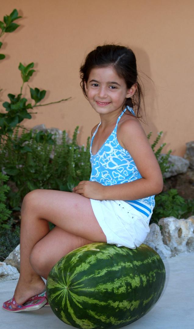mia nipote sul melone