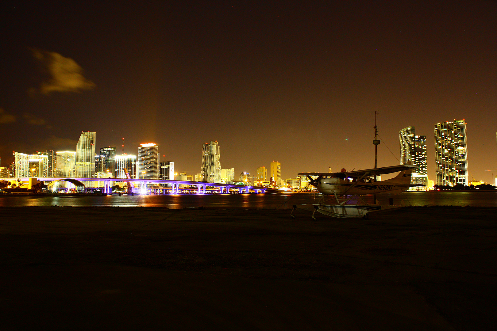 Miami Skyline and Airport