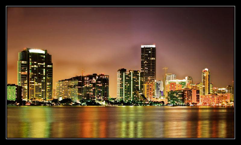 MIAMI Skyscrapers by Night -