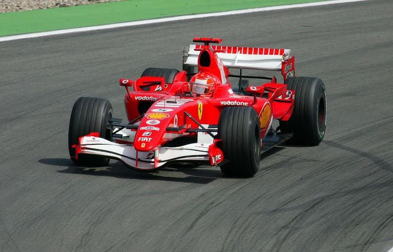 Michael Schumacher gewinnt auf dem Hockenheimring 2006