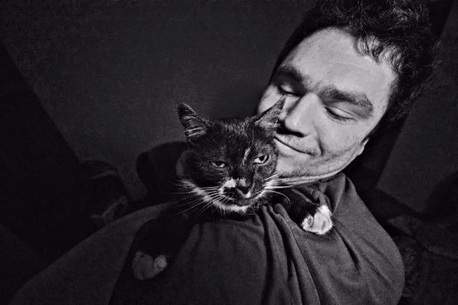 Michal und Magda (die Katze)