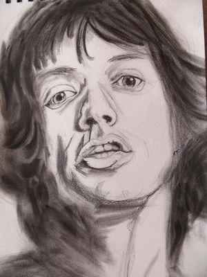 Mick jagger Grafite su carta