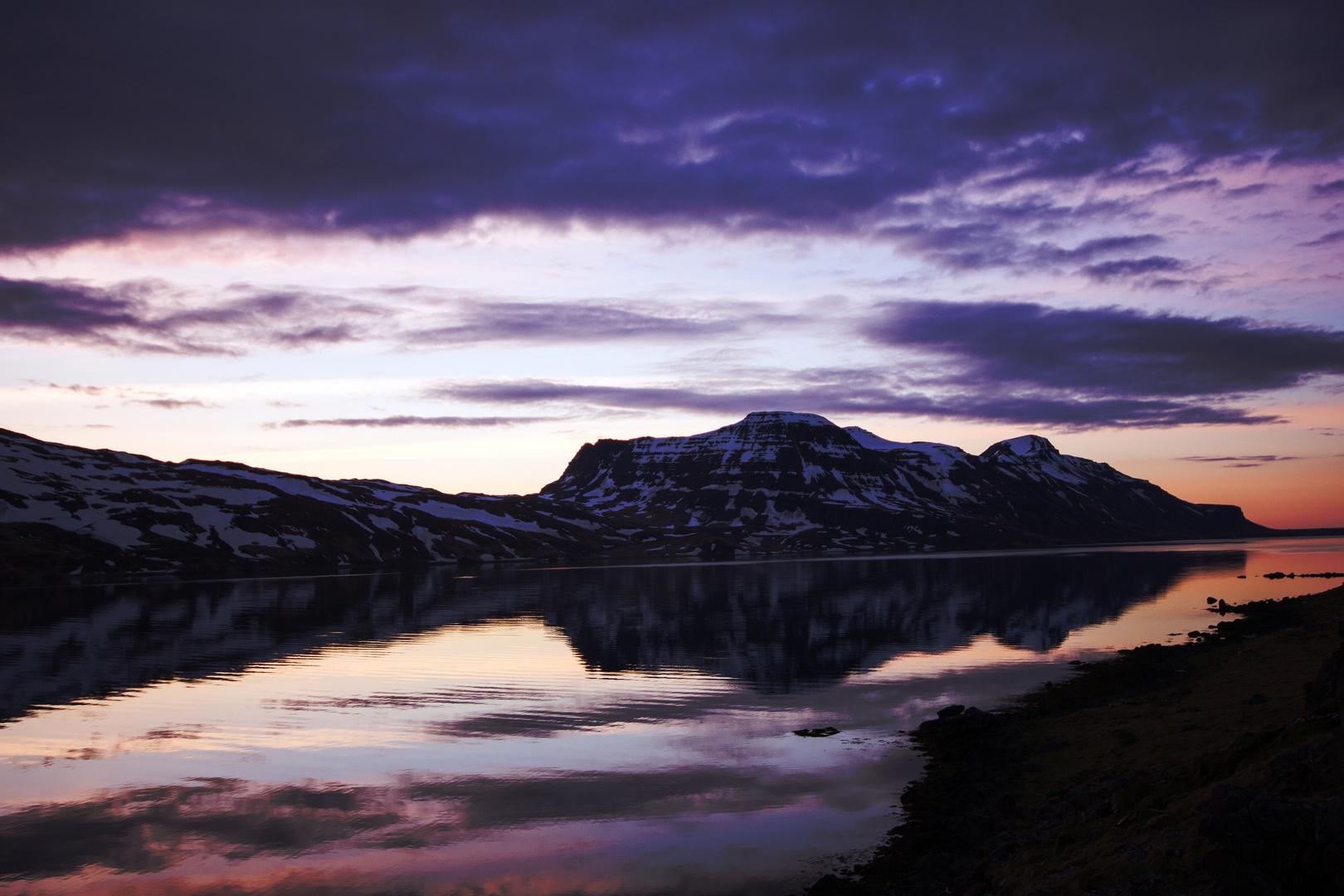 Midnight Sun at Djupavik