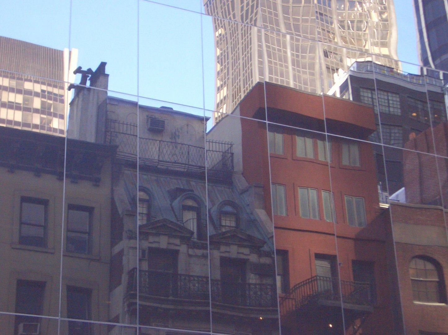 midtown new york spiegelung