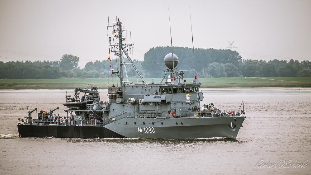 Mienensuchboot PEGNITZ Elbaufwärts